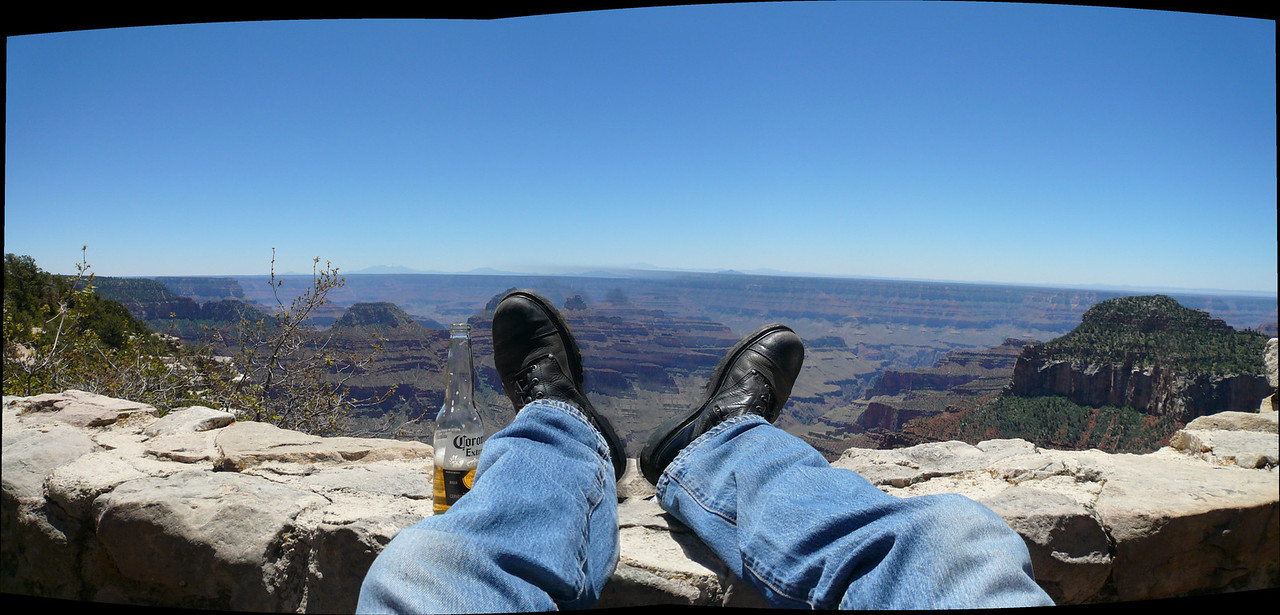 Relaxing at the North Rim Lodge